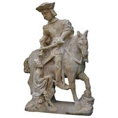 "*Saint-Martin Statue ""Patron Saint of Soldiers & Vintners"" from France"
