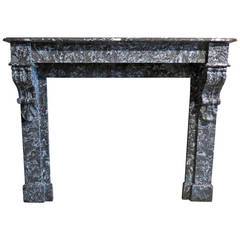 French Parisian Marble Fireplace Handcrafted Circa 1850s Paris-France