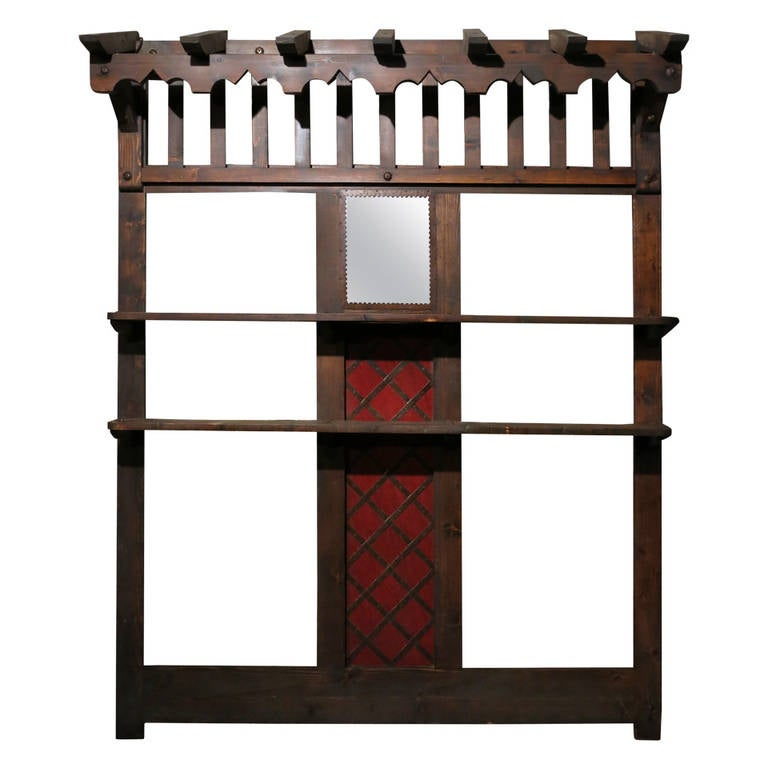 """French Bibliotheque """"Bookcase,"""" Handmade in Wood, circa 1880s Paris"""