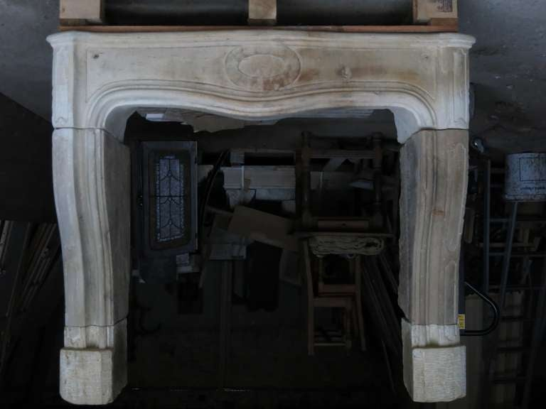 Louis Xiv Period 17th Century French Antique Fireplace In Stone For Sale At 1stdibs