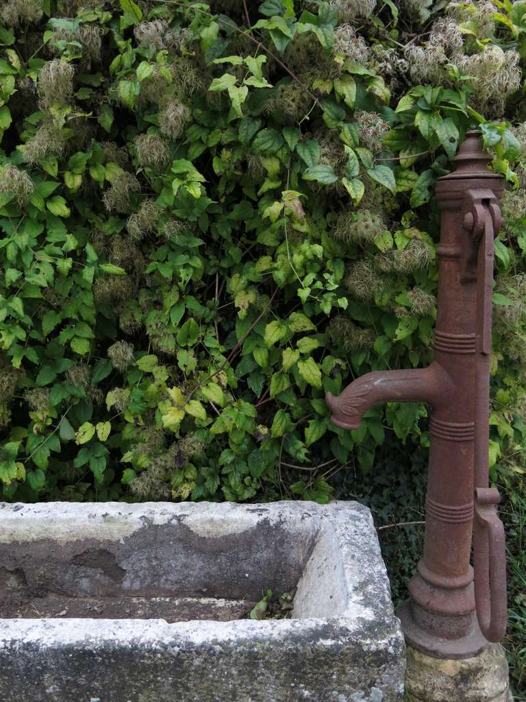 Rustic Village Water Pump in antique limestone from France 18/19th Century For Sale