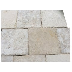 French Limestone Flooring Louis XIII Style from France