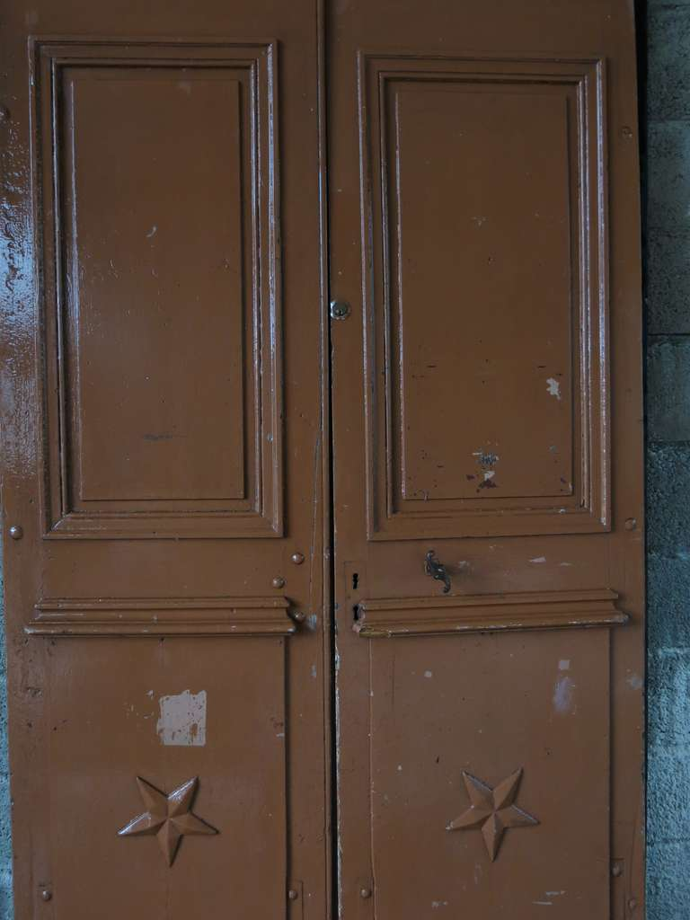 Original pair of wood doors from main entrance. From France, 19th century .'. For Sale 1
