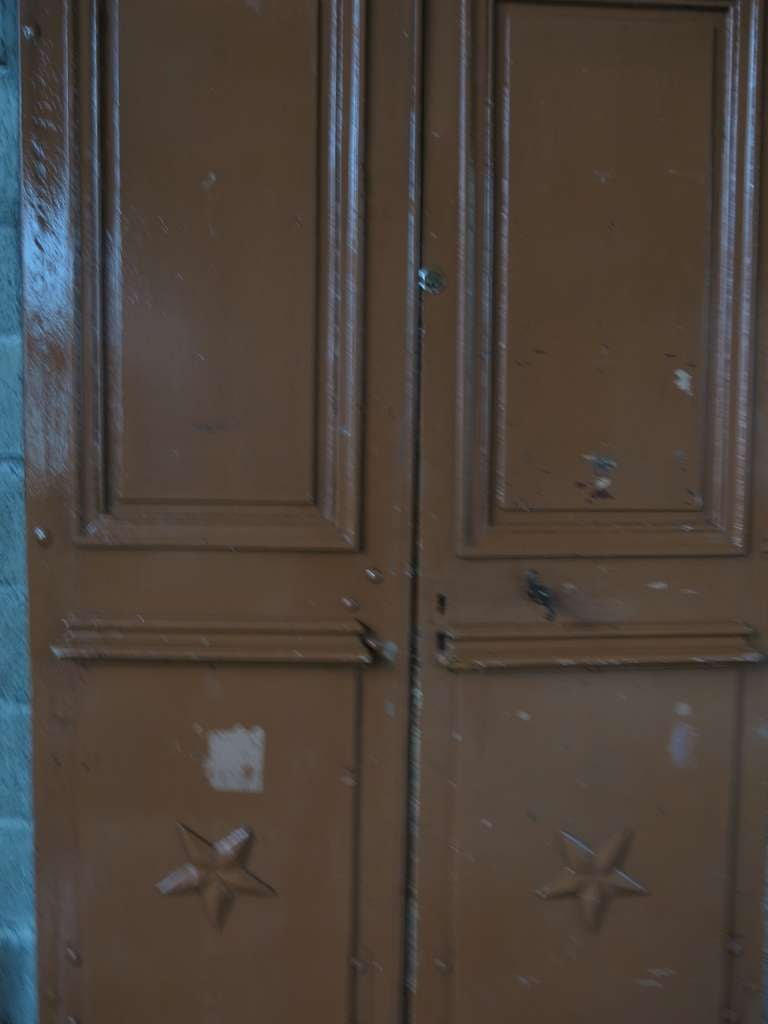 Original pair of wood doors from main entrance. From France, 19th century .'. In Good Condition For Sale In LOS ANGELES, CA