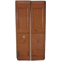 Original pair of wood doors from main entrance. From France, 19th century .'.