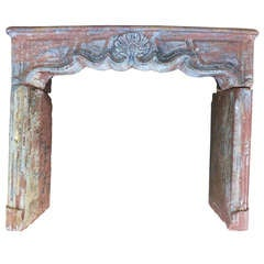 Louis XV Period Fireplace in Sandstone from France circa 1750s