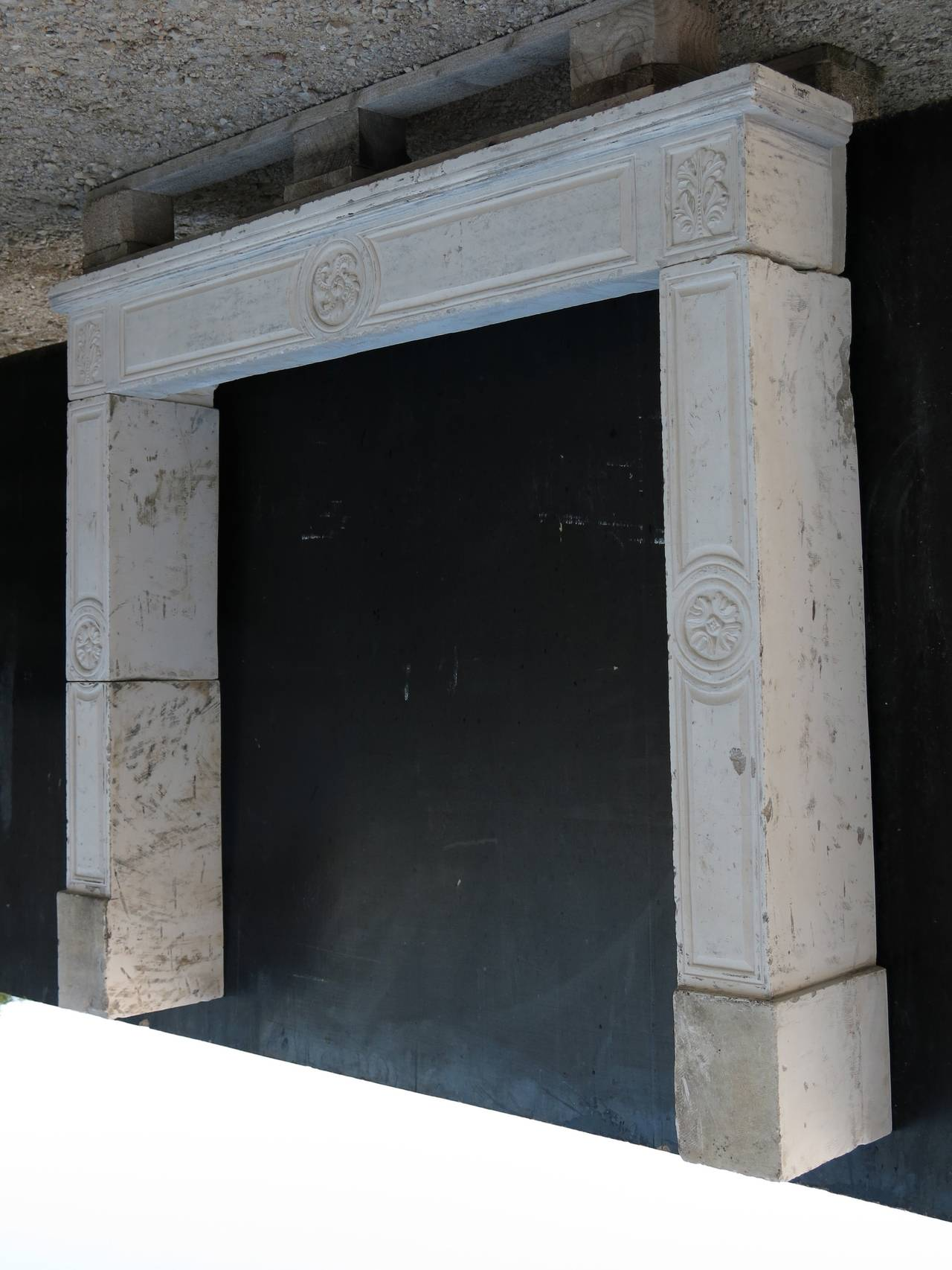 French Louis Xvi Period Fireplace In Limestone From France Circa 1790s For Sale At 1stdibs