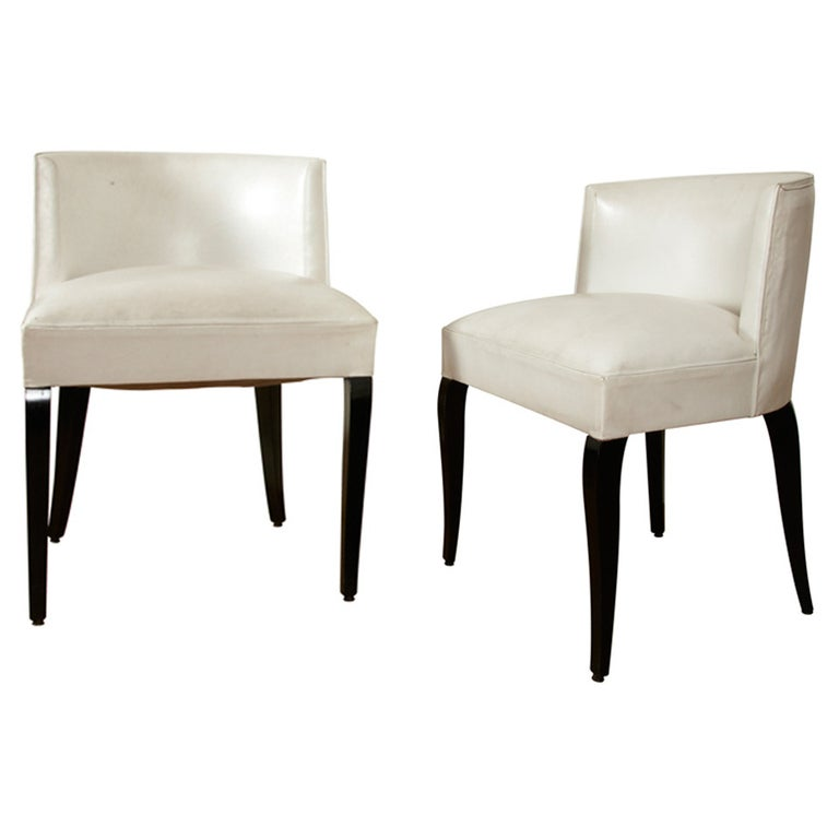 Pair of Modernist Chairs by Jacques Adnet, 1930s For Sale