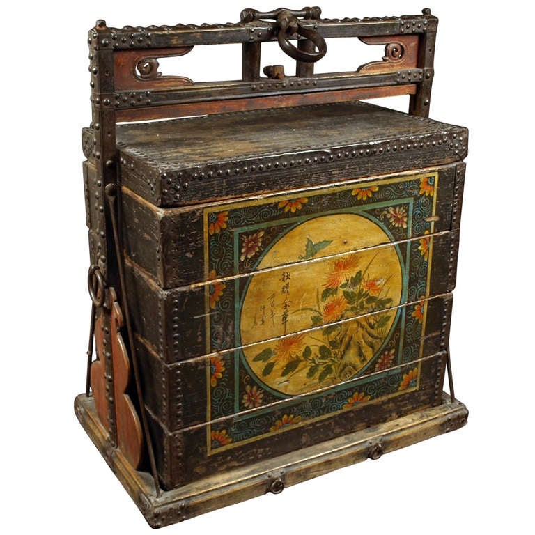 China mid qing dynasty large food bbox at 1stdibs for Chinese art furniture