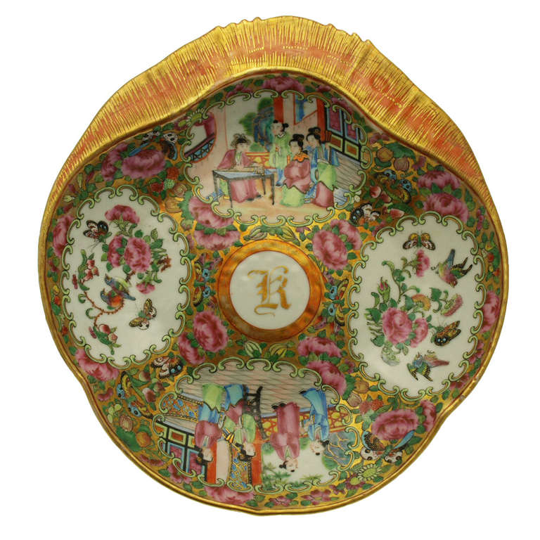 China Rose Medallion Dinner Service Circa 1840 At 1stdibs