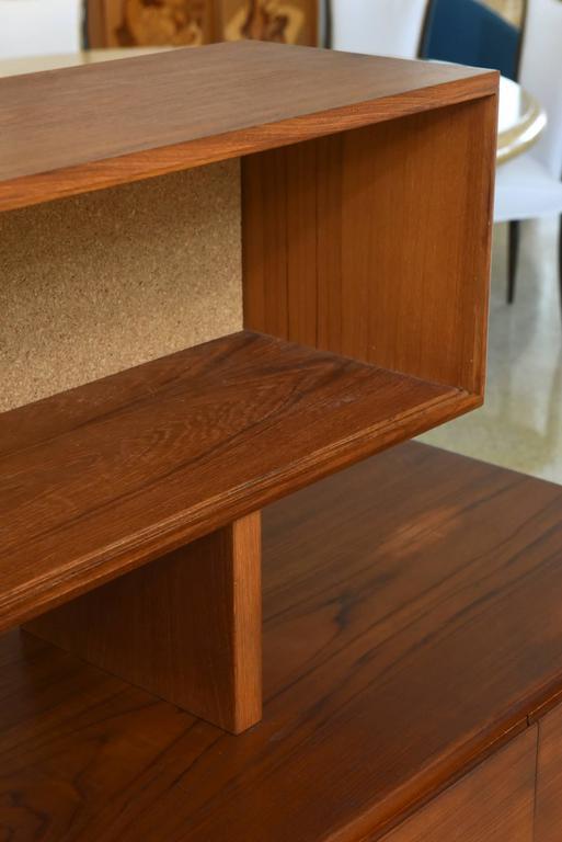 Bodil Kjaer Danish Teak Sideboard Manufactured by E. Pedersen and Sons, 1950s For Sale 3