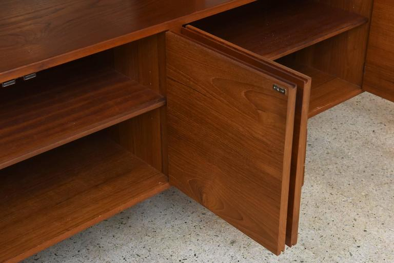 20th Century Bodil Kjaer Danish Teak Sideboard Manufactured by E. Pedersen and Sons, 1950s For Sale