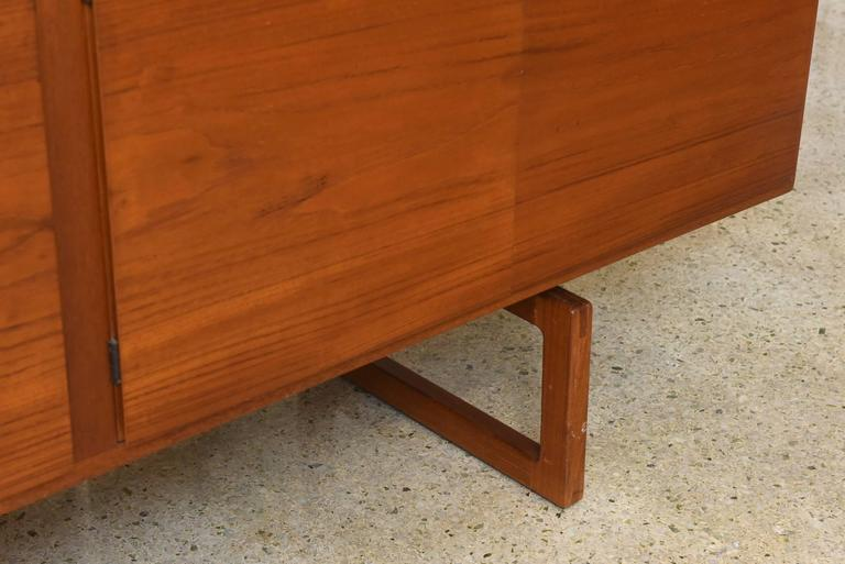 Mid-Century Modern Bodil Kjaer Danish Teak Sideboard Manufactured by E. Pedersen and Sons, 1950s For Sale