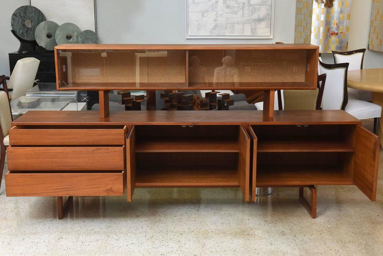 Bodil Kjaer Danish Teak Sideboard Manufactured by E. Pedersen and Sons, 1950s In Excellent Condition For Sale In Miami, FL