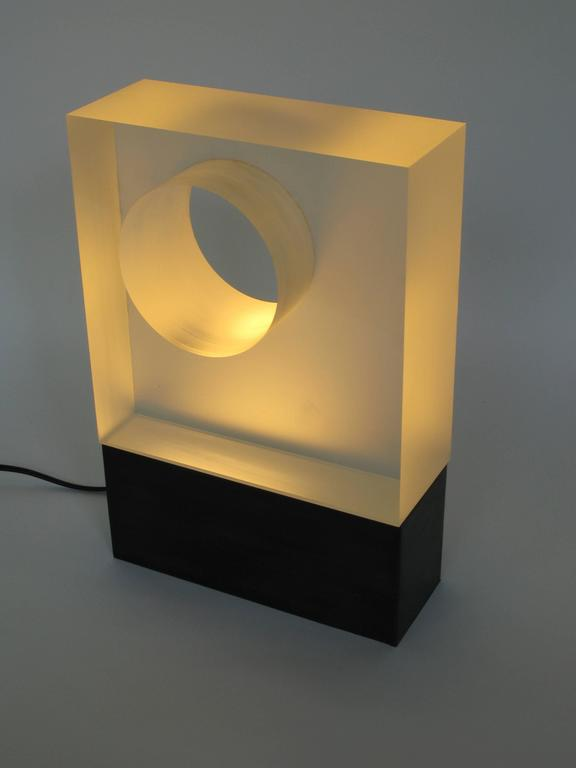 Christophe Côme Hole Light in Crystal and Metal with Oxidized Patina In Excellent Condition For Sale In New York, NY
