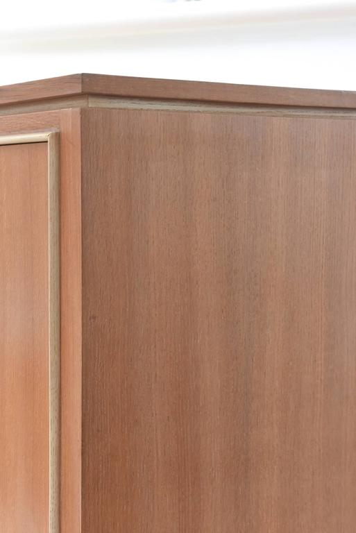 Pierre petit french modern limed oak and parchment tall for 1940s kitchen cabinets for sale