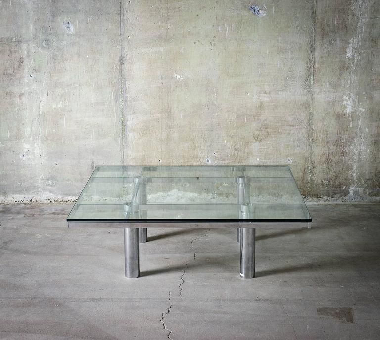 """Tobia Scarpa """"Andre"""" Coffee Table, Chrome-Plated Steel and Glass for Knoll, 1967 5"""