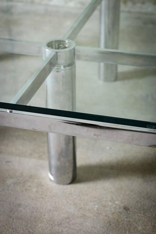 """Tobia Scarpa """"Andre"""" Coffee Table, Chrome-Plated Steel and Glass for Knoll, 1967 8"""