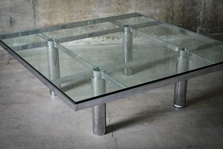 """Tobia Scarpa """"Andre"""" Coffee Table, Chrome-Plated Steel and Glass for Knoll, 1967 9"""