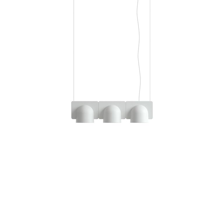 Igloo is a family of suspension lamps designed in 2014 by Studio Klass and manufactured in 2017 for Fontana Arte. The lamps are available in a series of down-light or up and down-light configurations. The basic element is the unit in self-