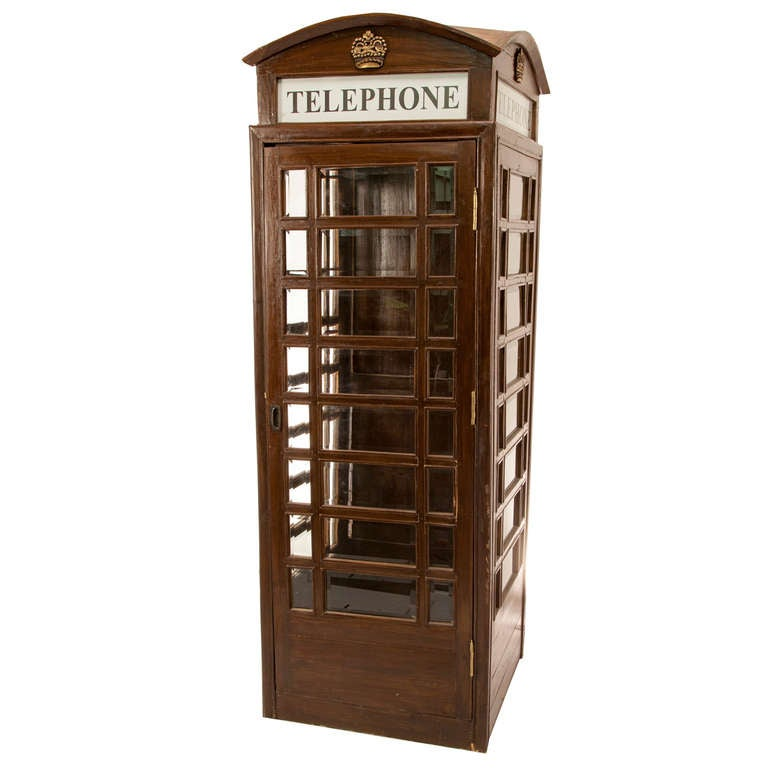 19th Century Victorian Style British Phone Booth 1