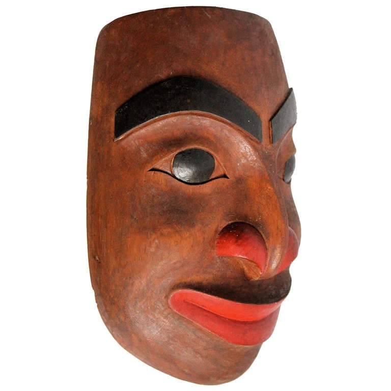 20th C North West Coast Indian Mask At 1stdibs