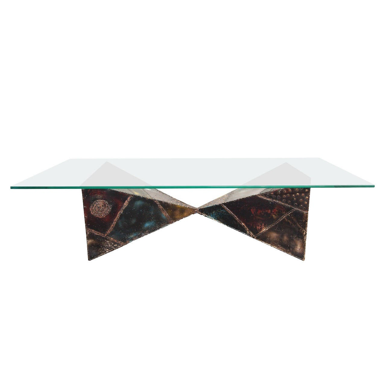 Iconic paul evans brutalist coffee table at 1stdibs for Iconic tables