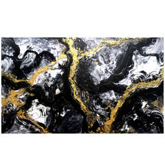Black Waters Abstract Painting by Luis Urribarri