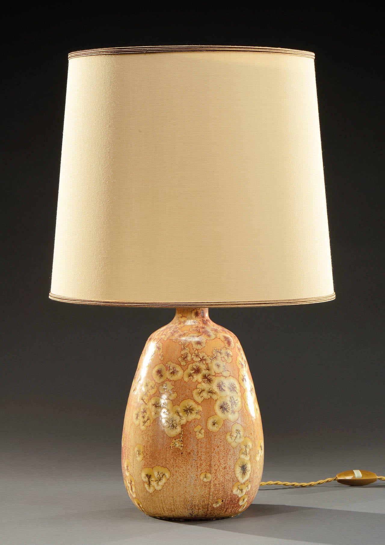 Elegant Ceramic Lamp by Pierre-Adrien Dalpayrat at 1stdibs
