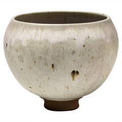 Subtle Stoneware Bowl by François Eve, Saint-Amand-en-Puisaye