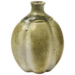 Stoneware Vase by François Eve, Saint-Amand-en-Puisaye