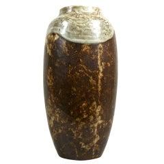 A stoneware vase by Emile Decoeur