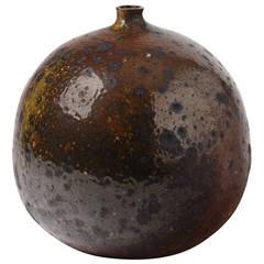 Rare Stoneware Vase by Pierre Digan for La Borne, circa 1970