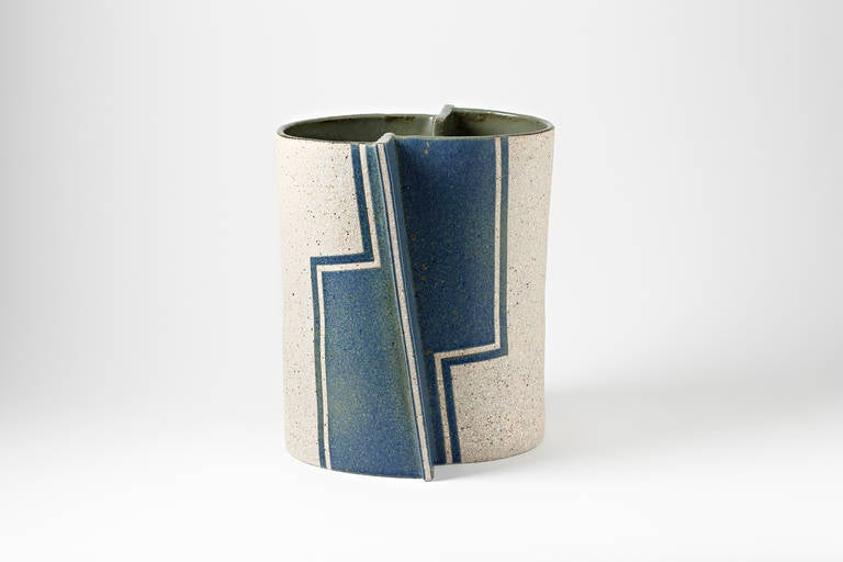 Important Stoneware Vase By Gustavo P 233 Rez At 1stdibs