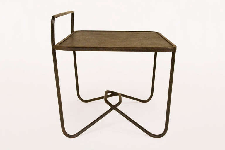 Side Table Designed By Mathieu Mategot Circa 1953 In Excellent Condition  For Sale In Girona,