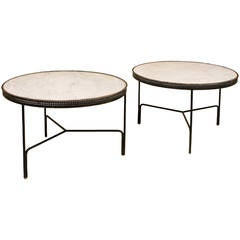 Pair of Mathieu Mategot Coffee Tables, circa 1950, France