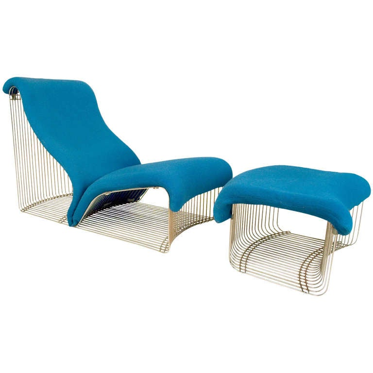 Pantonova reclining chair with ottoman by verner panton - Chaise verner panton ...