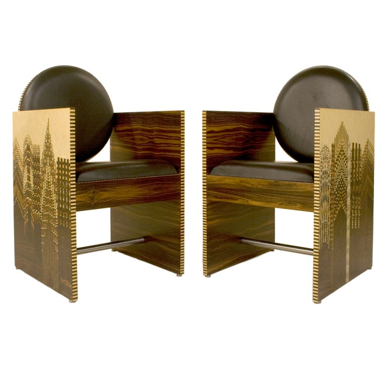Pair Of Armchairs Signed By CeM. Thiauy