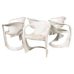 "Series of Six Alexander Begge ""Casalino"" Dining Chairs, circa 1970, Germany"