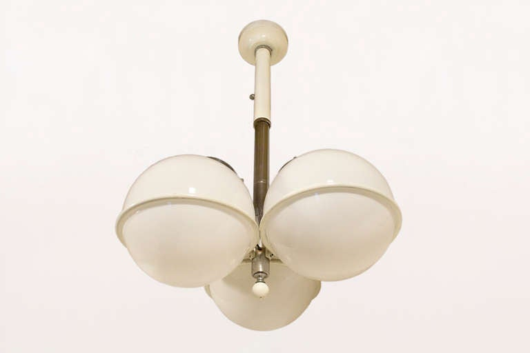 Chandelier after Gino Sarfatti, Italy, circa 1965 In Good Condition For Sale In Girona, Spain