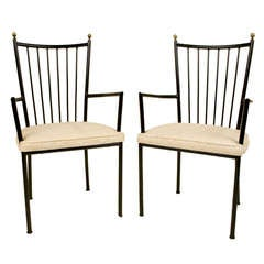 Pair Of Armchairs By Colette Gueden