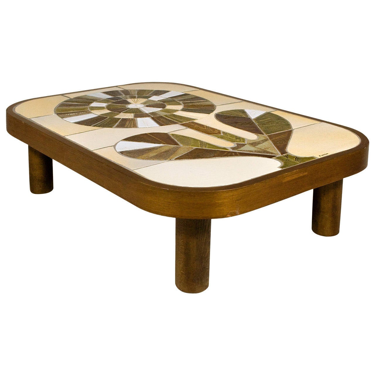 Roger Capron Ceramic Coffee Table Circa 1960 France At 1stdibs