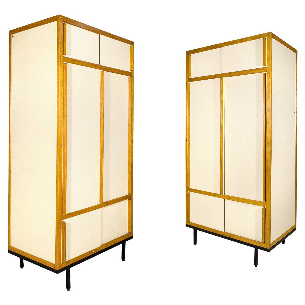 pair of andre sornay armoires circa 1960 france at 1stdibs. Black Bedroom Furniture Sets. Home Design Ideas
