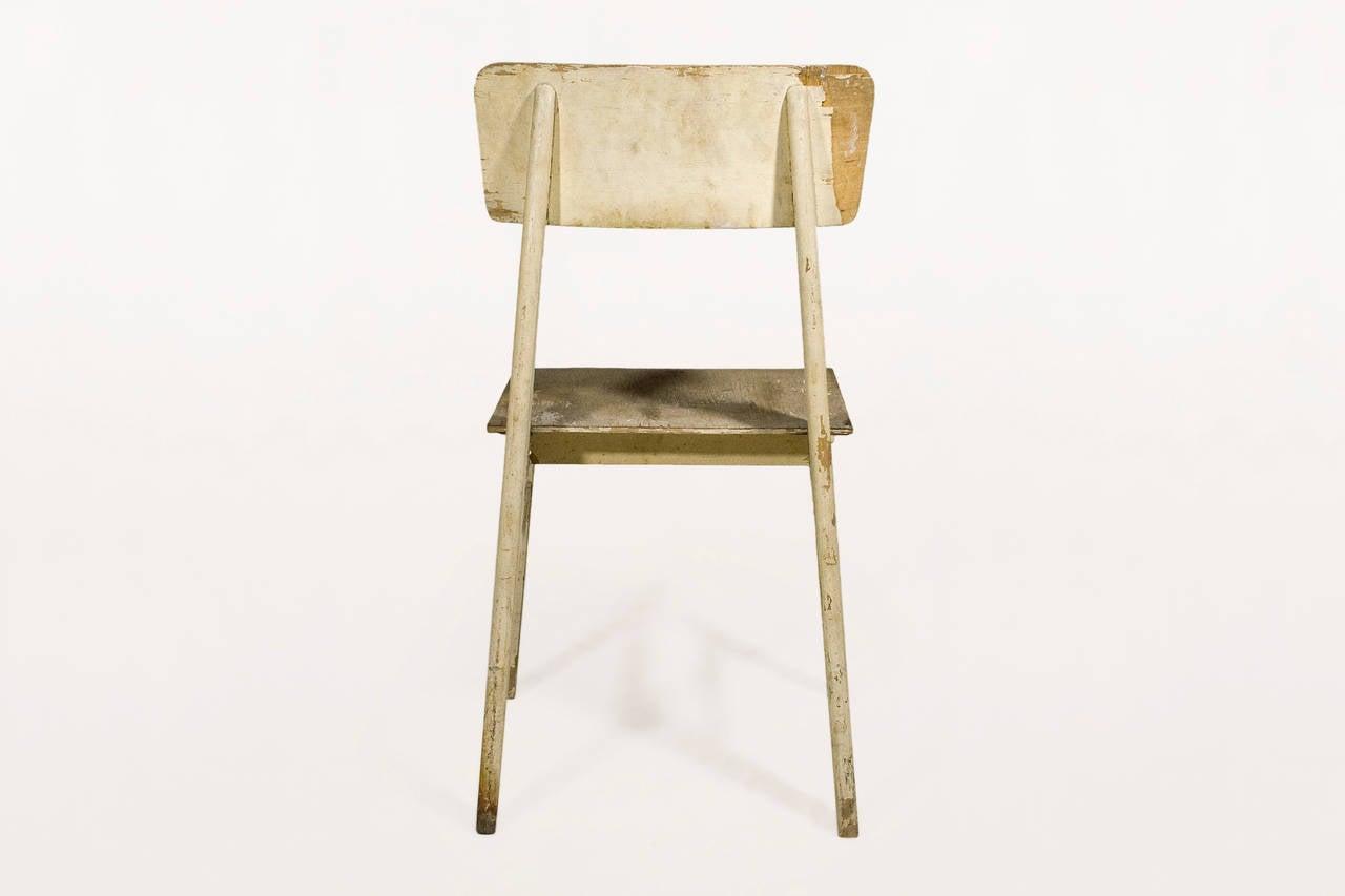 jean prouve chaise en bois wooden standard chair circa. Black Bedroom Furniture Sets. Home Design Ideas