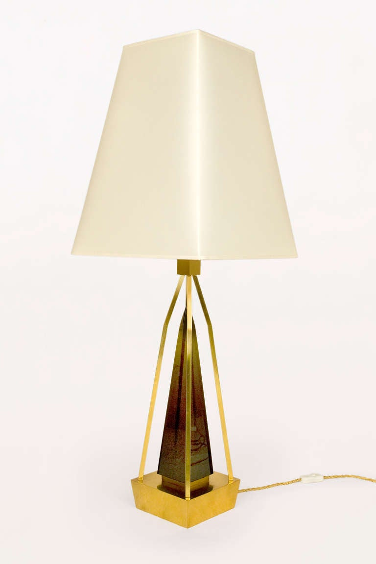 Pair Of Table Lamps By Roberto Giulio Rida In Excellent Condition For Sale In Girona, ES
