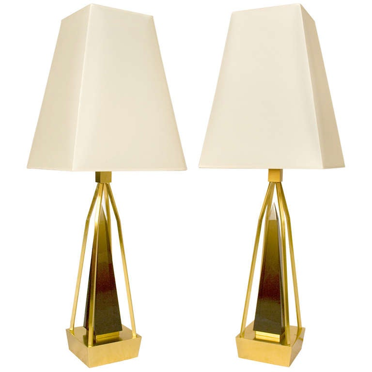Pair Of Table Lamps By Roberto Giulio Rida For Sale