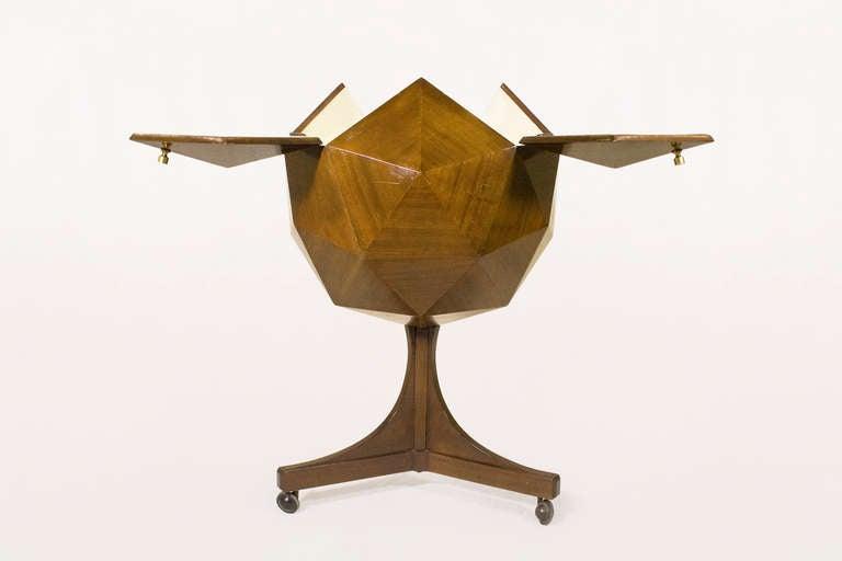 Ico Parisi Attributed Polyhedron Mahogany Bar 3
