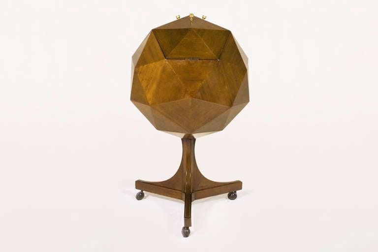 Ico Parisi Attributed Polyhedron Mahogany Bar 2