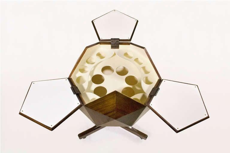 Ico Parisi Attributed Polyhedron Mahogany Bar 4
