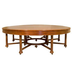Exceptional 19th Century Mahogany Dining or Library Table